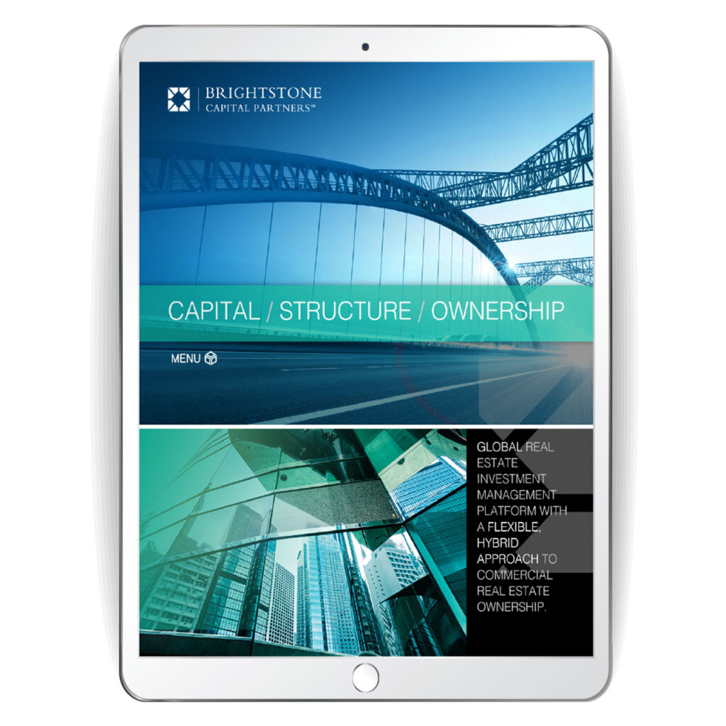 contemporary classic website look and feel for commercial real estate investment firm