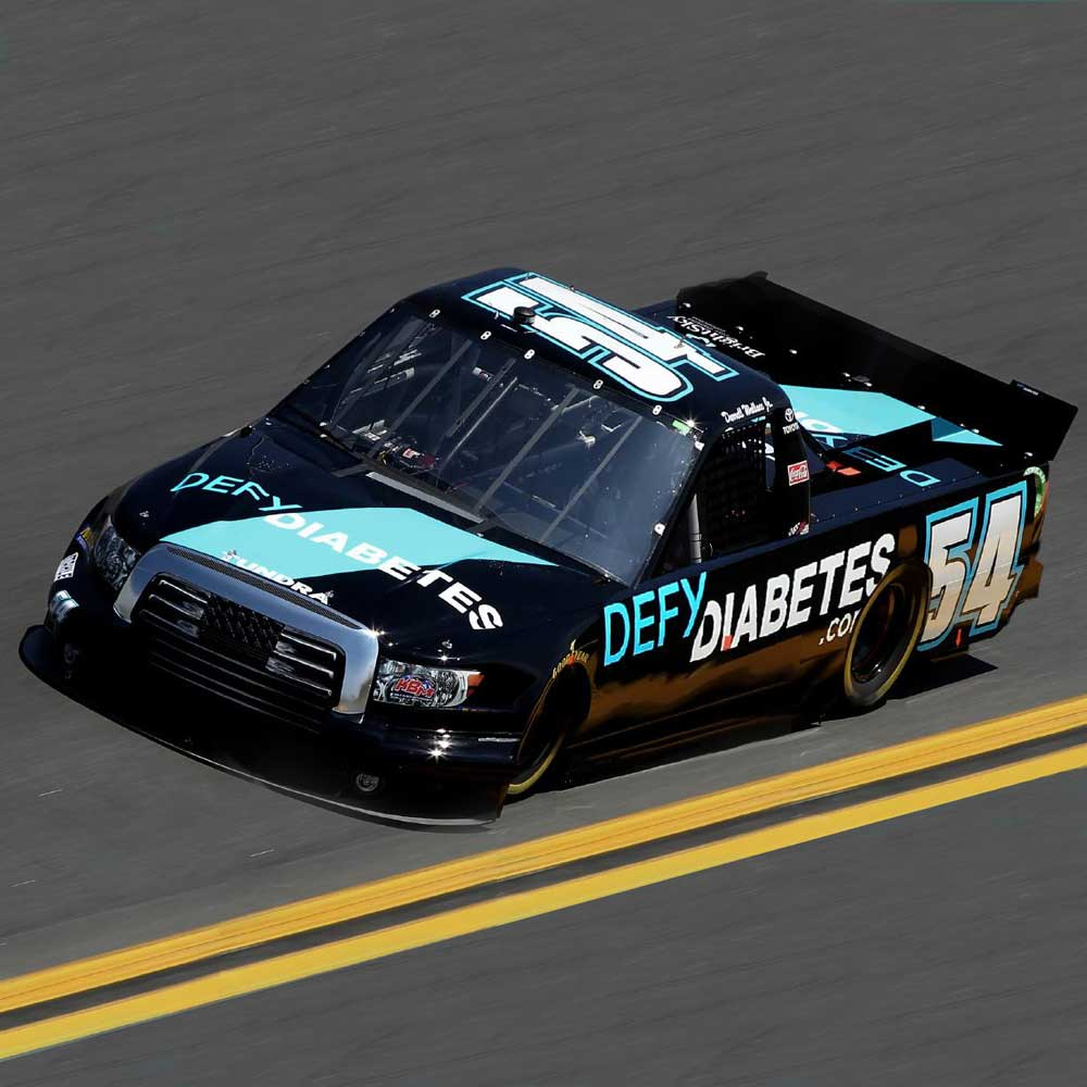 NASCAR with defy diabetes logo