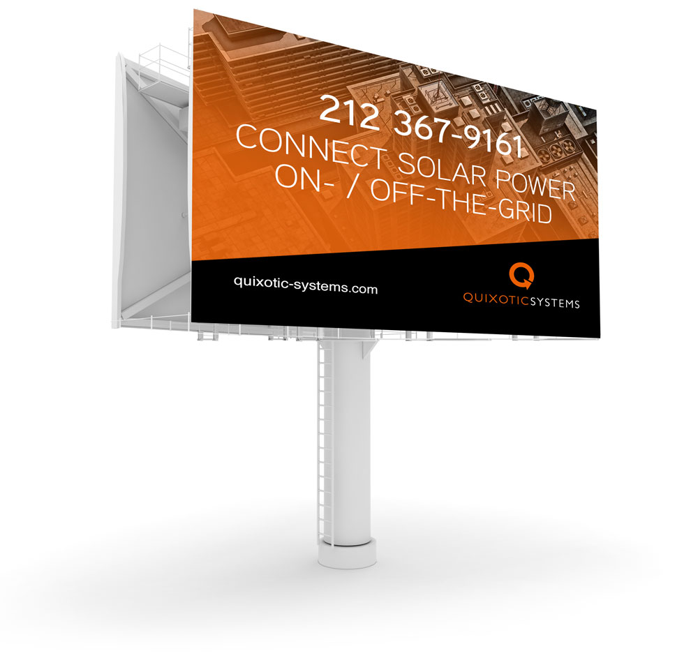 smart billboard design for new york city new jersey solar company quixotic. connect solar power on- off- the grid